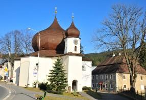 Das Gotteshaus der heiligen hilfreichen Jungfrau Maria vom Stern in Markt Eisenstein – Železná Ruda