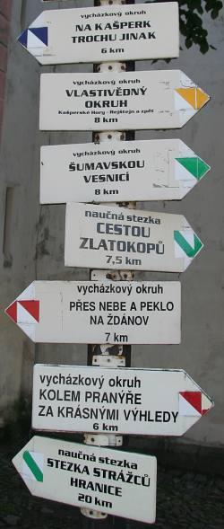 Kašperskě hory a okolí sport turistika