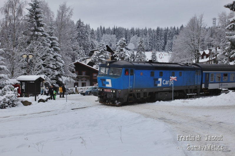 Silvestrovský vlak Strakonice - Vimperk - Kubova Huť